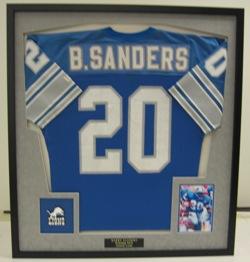 Waverly Custom Framing & Art Gallery Custom Framed B. Sanders Jersey